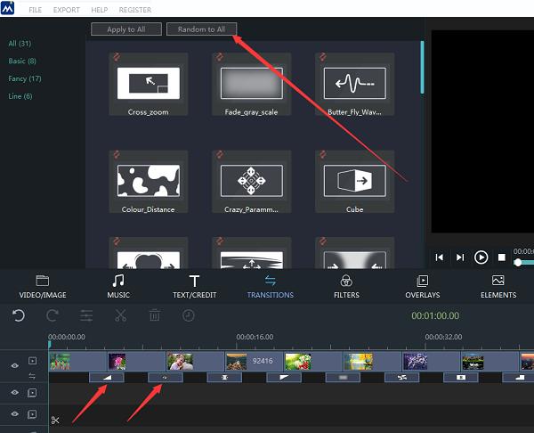 how to add transitions with windows movie maker